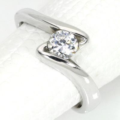 【P2倍】ダイヤモンド(空枠) 0.4~0.5(±0.05ct可)ct用 リング 指輪 枠 K18 PG WG 18金(※プラチナPT追加料金で対応可) ひし形をえがく 個性的 シンプル リフォーム/1年保証/【※クーポン対象外】