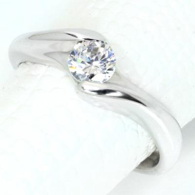ダイヤモンド(空枠) 0.3 (±0.05ct可)ct用 リング 指輪 枠 K18 PG WG 18金(※プラチナPT追加料金で対応可) 肉厚 どっしり ひっかかりなし リフォーム/1年保証/ラックジュエル luckjewel/