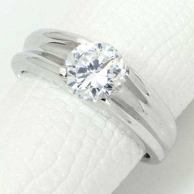 【P2倍】ダイヤモンド(空枠) 1.0(±0.05ct可)ct用 リング 指輪 枠 K18 PG WG 18金(※プラチナPT追加料金で対応可) 肉厚 メンズにもおすすめ リフォーム/1年保証/ラックジュエル luckjewel/