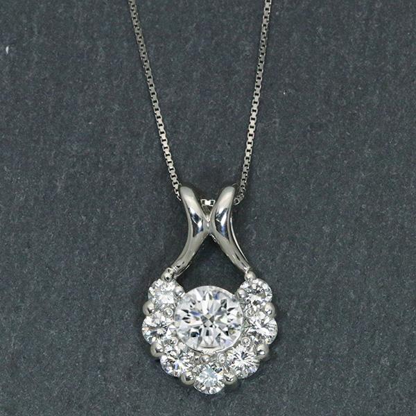 【P2倍】ダイヤモンド(空枠) 0.3、0.5 (±0.05ct可)ct用 ペンダントトップ枠 K18 PG WG 18金(※プラチナPT追加料金で対応可) 周囲ダイヤ豪華/白・透明(ホワイト)/リフォーム/1年保証/