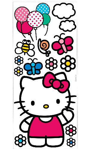 867d9fca2 02P11Jan14; Hello Kitty giant wall stickers children's rooms, living fast  and to redecorate!