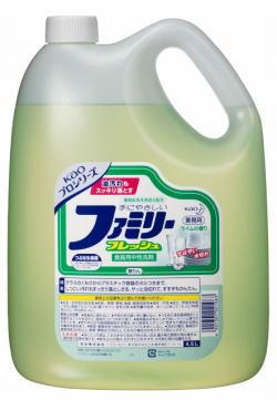 """供供花王、餐具使用的洗涤剂""""家庭新鲜""""业务使用的4.5L 02P27Jun14"""