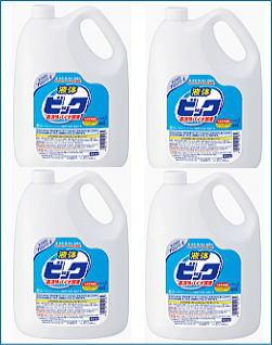 【送料無料】花王・衣料用洗剤『液体ビック・バイオ酵素』業務用4.5リットル×4本(1ケース) 02P09Jul16