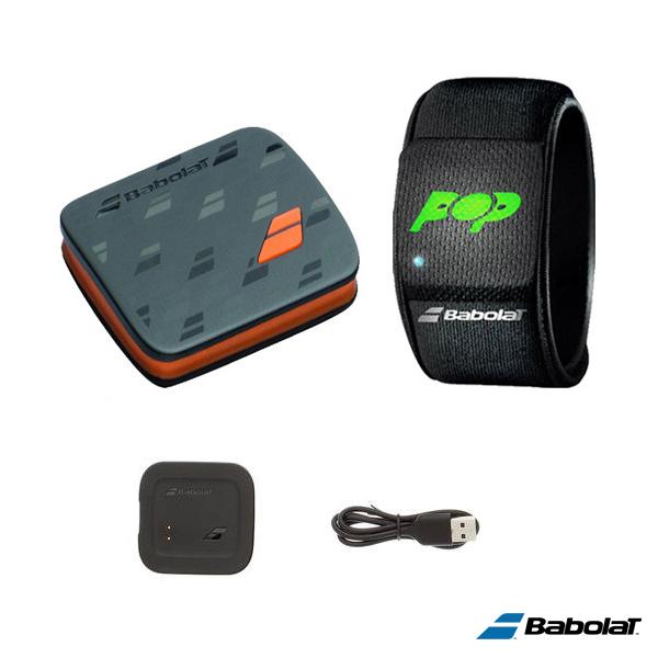 BABOLAT POP/通信機能掲載リストバンド/センサー+リストバンド+充電器+USBケーブル(BA100001)《バボラ テニス アクセサリ・小物》