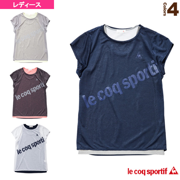 82b47710f2cd2 半袖シャツ/2枚重ね/レディース(QB015173CP)《ルコック テニス・バドミントン