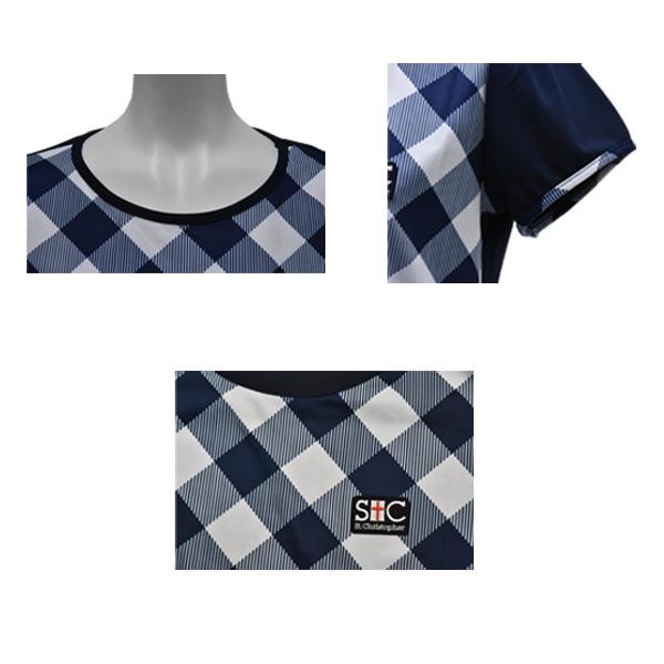 구라두 체크 게임 T셔츠/레이디스(STC-AGW6043)《센트 크리스토퍼 테니스・배드민턴 웨어(레이디스)》