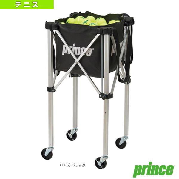 ボールバスケット/ロックピンキャスター付/ブラック(PL064)《プリンス テニス コート用品》カートボールカゴ