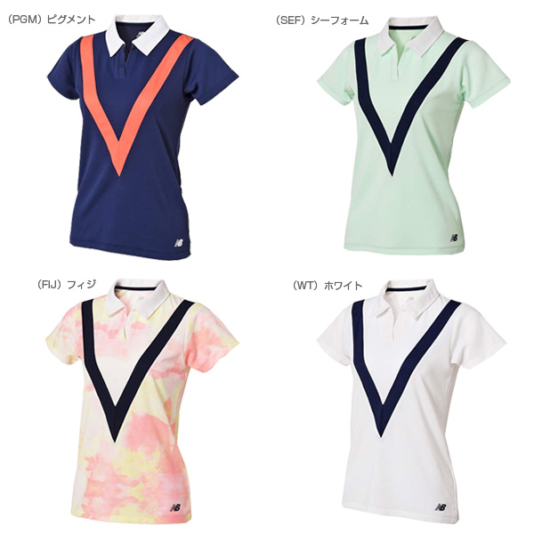 8cfc6db04f8b スキッパー ゲームシャツ/レディース(JWTT8017)《ニューバランス テニス・バドミントン ウェア(レディース