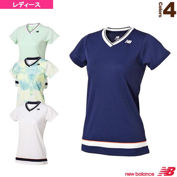 97872b85cb28 Vネック ゲームシャツ/レディース(JWTT8018)《ニューバランス テニス・バドミントン ウェア(