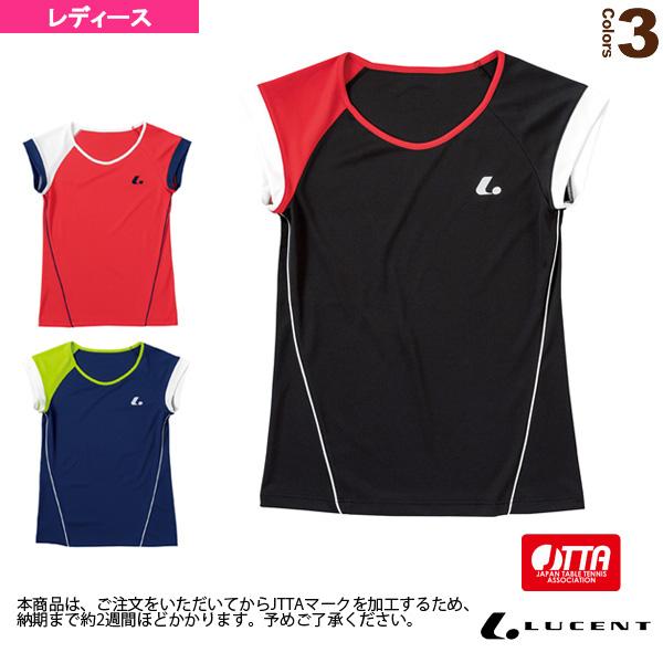 ゲームシャツ/襟なし/JTTA公認マーク付/レディース(XLH-228xP)《ルーセント 卓球 ウェア(レディース)》