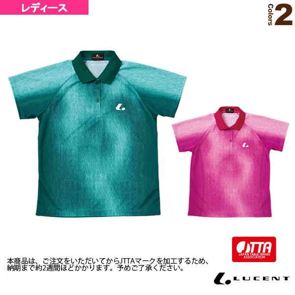ゲームシャツ/JTTA公認マーク付/レディース(XLP-474xP)《ルーセント 卓球 ウェア(レディース)》