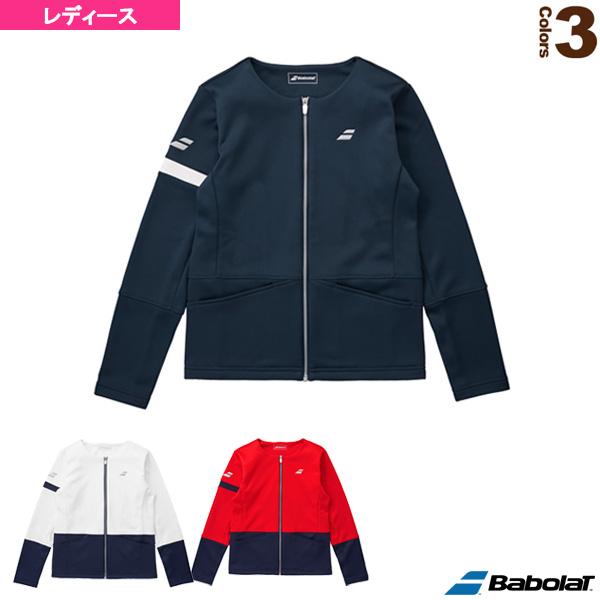 フリースノーカラージャケット/カラープレイライン/レディース(BTWMJK48)《バボラ テニス・バドミントン ウェア(レディース)》