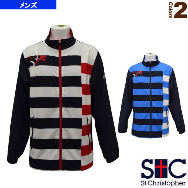 ボーダーウインドジャケット/メンズ(STC-AHM5063)《セントクリストファー テニス・バドミントン ウェア(メンズ/ユニ)》