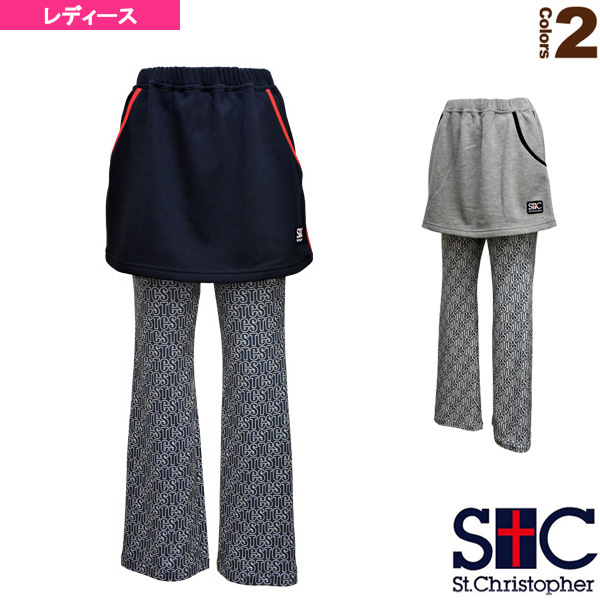 STCパターンスコート付パンツ/レディース(STC-AHW6076)《セントクリストファー テニス・バドミントン ウェア(レディース)》
