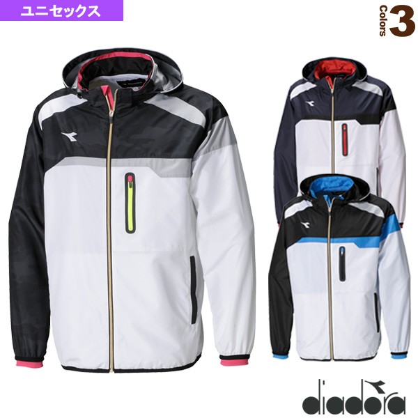 TEAM 2WAY ウィンドジャケット/ユニセックス(DTW8186)《ディアドラ テニス・バドミントン ウェア(メンズ/ユニ)》