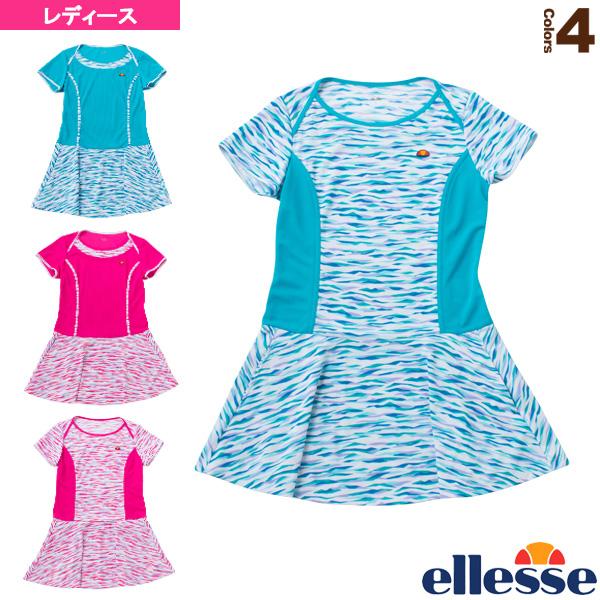 2019年04月上旬【予約】ショートスリーブクールドットドレス/S/S Cool Dot Dress/レディース(EW09119)《エレッセ テニス・バドミントン ウェア(レディース)》