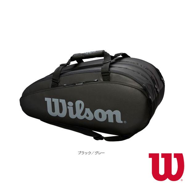 TOUR 3 COMP BKGY/ラケット15本収納可(WRZ849315)《ウィルソン テニス バッグ》