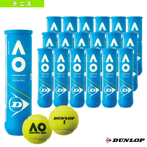 DUNLOP AUSTRALIAN OPEN/ダンロップ オーストラリアンオープン/『4球入×18ボトル』(DAOYL4TIN)《ダンロップ テニス ボール》