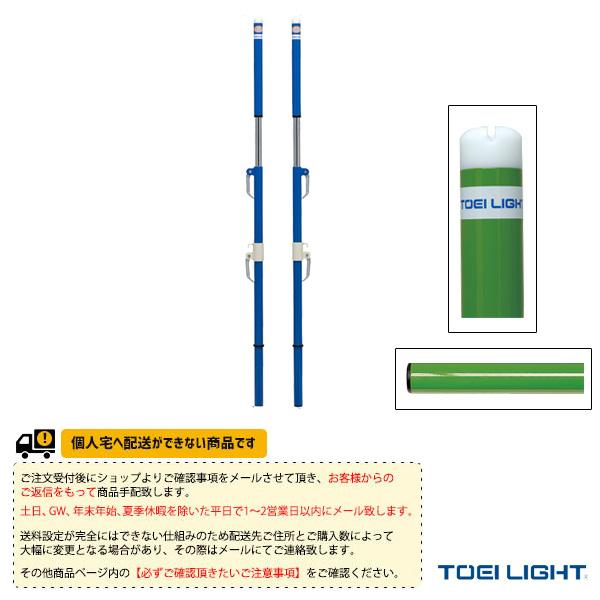 [送料別途]ソフトバレー・バド支柱(検)/2本1組(B-2745/B-2746)《TOEI(トーエイ) バドミントン コート用品》