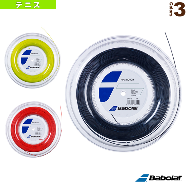 RPM ラフ/RPM ROUGH/200mロール(243140)《バボラ テニス ストリング(ロール他)》