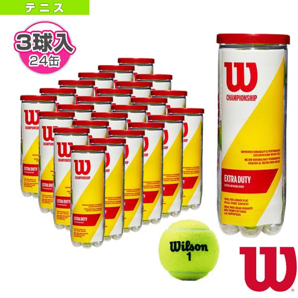 CHAMPIONSHIP EXTRA DUTY/チャンピオンシップ・エクストラ・デューティー『3球入×24缶』(WRT100101)《ウィルソン テニス ボール》