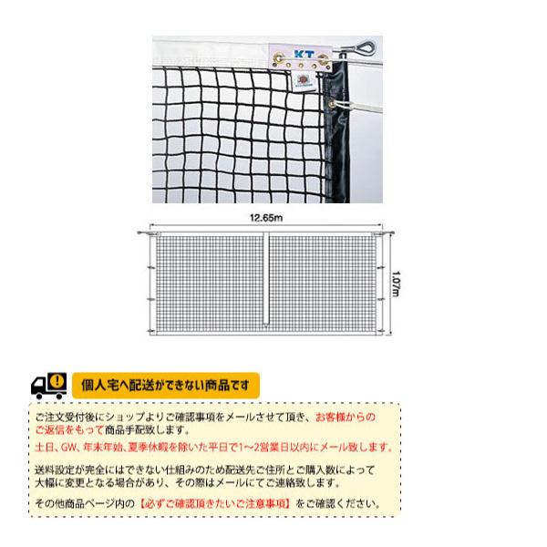 [寺西喜ネット テニス コート用品]全天候式無結節硬式テニスネットサイドポール挿入式(KT-223)