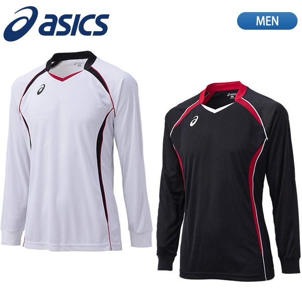 在庫処分SALE ゲームシャツ Tシャツ 部活 クラブ 人気の製品 練習 試合 セール40%OFF asics ウェア XW1320 メンズ お金を節約 在庫限り バレーボール 長袖 アシックス