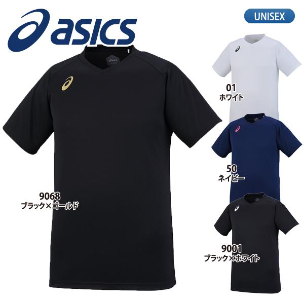 人気の定番モデル 練習着 Tシャツ ワンポイント ユニセックス あす楽対応 アシックス ウェア 春の新作続々 メンズ 早割クーポン プラクティスシャツ XW6746 バレーボール 半袖 asics