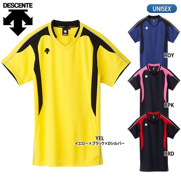 練習着 現金特価 半袖 在庫処分 ユニセックス DESCENTE デサント 半袖ゲームシャツ DSS-4620 バレーボールウェア メンズ