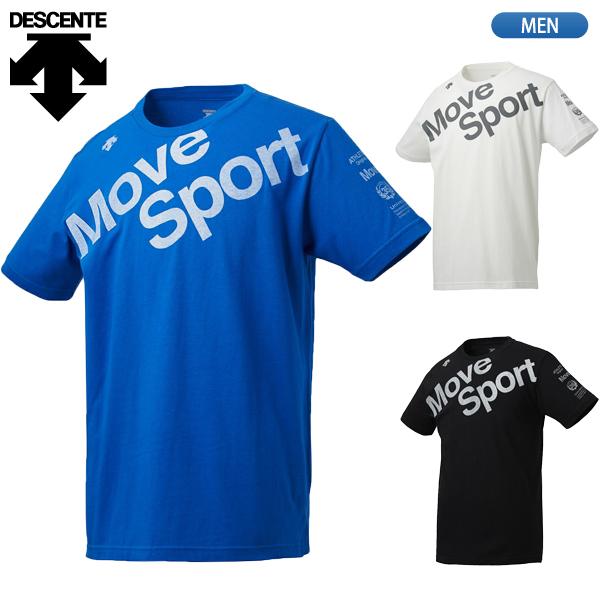 在庫処分SALE ジム 移動着 半袖シャツ トップス メンズ セール40%OFF デサント 新作製品、世界最高品質人気! プレゼント DESCENTE デオダッシュコットン ムーブスポーツ Sport Move DMMNJA53 半袖Tシャツ