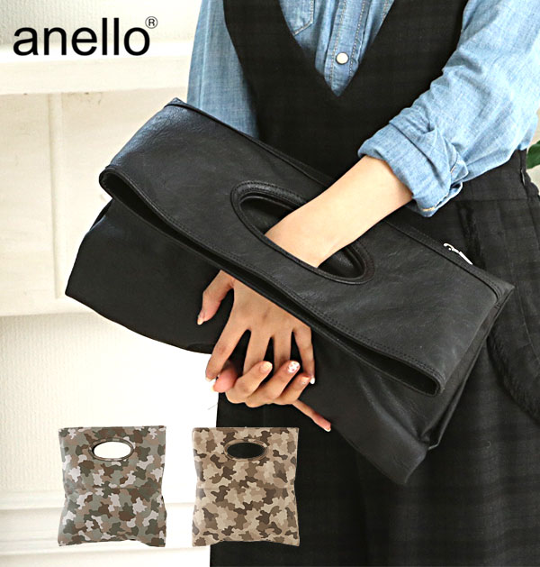 Anello Clutch Bag Leather 2way Simple Casual A4 Large Camouflage Tote With Men S Women Au 27001