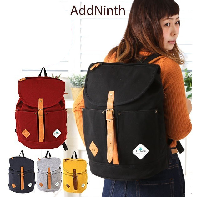 db46945f09 Cute backpacks ladies adenine AddNinth store ☆ adult school fashionable  lightweight large black 2-way canvas diaper bag daypack YN15-0150 high  school flap ...