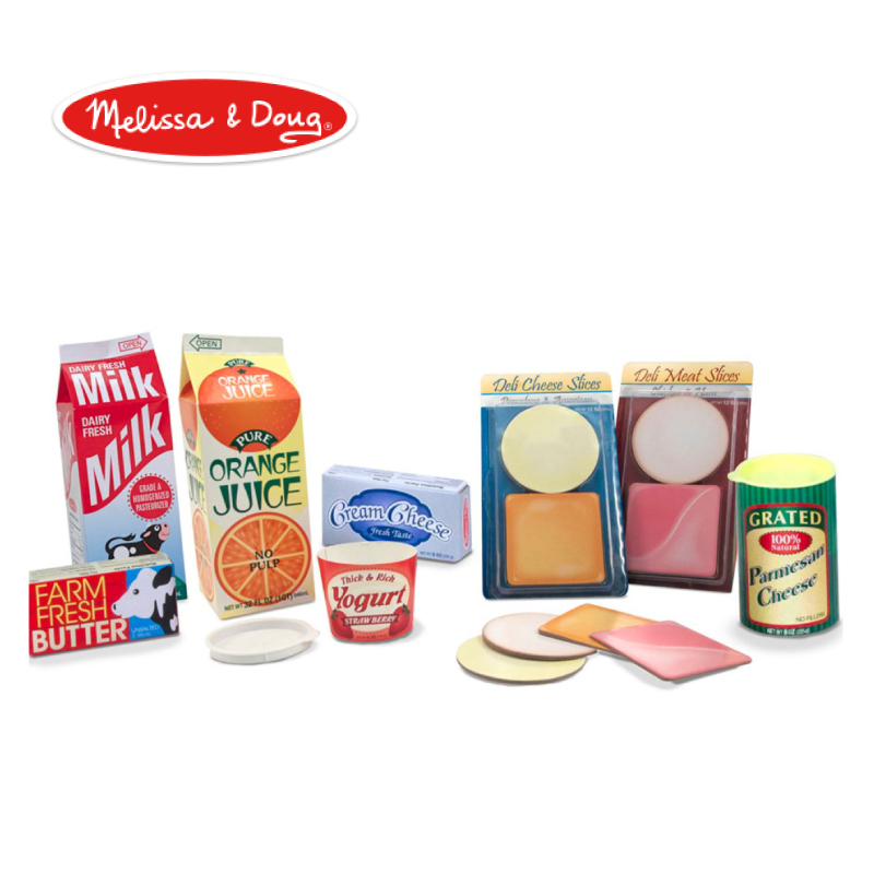 インスタ映えする可愛いパッケージでおままごと 送料無料(一部地域を除く) メリッサ ダグ Melissa Doug フリッジ フィラー おままごと プレゼント 缶 誕生日 キッチン おもちゃ ギフト MD4316 玩具 メーカー再生品