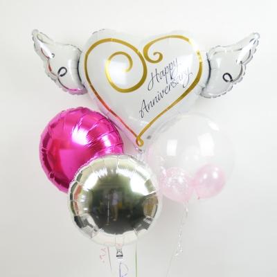 ウェディング プレゼント バースデー バルーン サプライズ ギフト パーティー Birthday Balloon Party 風船 誕生日 誕生会 お祝い ハートウィングス スターズ DX 星型 結婚式