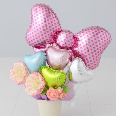 リボン Pot ポット プレゼント バースデー バルーン サプライズ ギフト パーティー Birthday Balloon Party 風船 誕生日 誕生会 お祝い