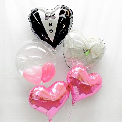 ウェディング プレゼント バースデー バルーン サプライズ ギフト パーティー Birthday Balloon Party 風船 誕生日 誕生会 お祝い ウエディングカップル ハート SPST 結婚式