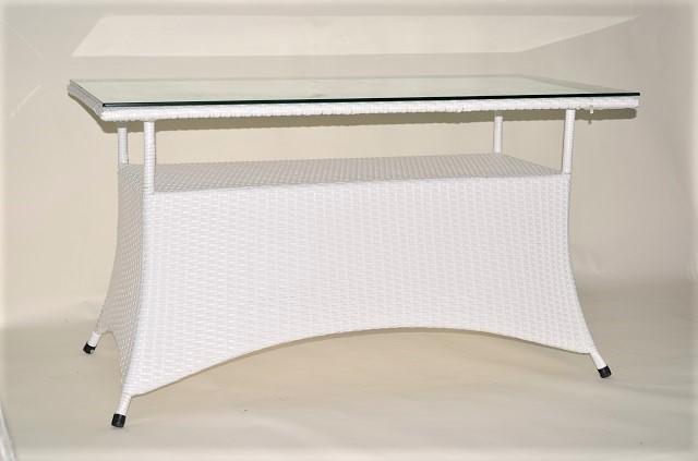 ガーデンファニチャー ラタン調 長方形テーブル