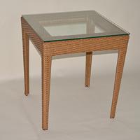 ラタン テーブル ラタン調 人気 オリジナル デザイン 組み立て不要 【軽量ラタン調テーブル屋内外使用可】ラタンテーブル 四角テーブル ブラウンorホワイト
