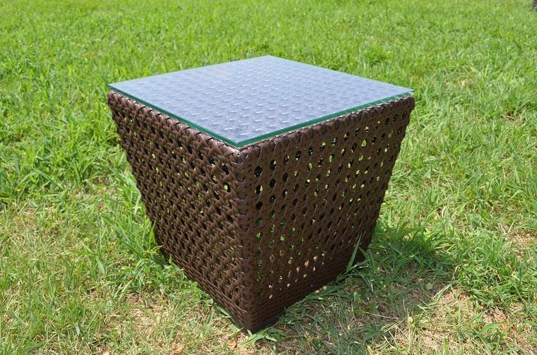 ガーデンファニチャー ラタン調 サイドテーブル 45cm ラタンテーブル