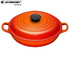ル・クルーゼ/LECREUSET ビュッフェキャセロール26cm オレンジ (ルクルーゼ:両手鍋)