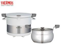 サーモス/THERMOS 真空保温調理器シャトルシェフ KBC-3001 ピュアホワイト (3~5人用)
