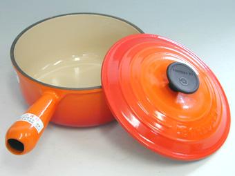 ル・クルーゼ/LECREUSET ソースパン18cm オレンジ (ルクルーゼ・片手鍋・正規輸入品・日本仕様)