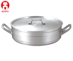 本間製作所/仔犬印 アルミ製 外輪鍋54cm 溶接止 44054 (浅型両手鍋・業務用・厨房用品)