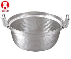 本間製作所/仔犬印 アルミ製 段付鍋60cm 鋲止 45060 (両手鍋・段付き鍋・業務用・厨房用品)