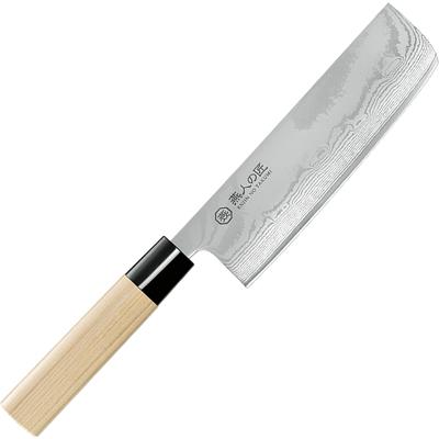 よこやま 燕人の匠 菜切包丁165mm ETW-2001 (日本製・ダマスカス包丁)