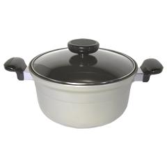 ナカノ商店/Nakano 両手深型鍋24cm (日本製・アルミ鋳物・アルミ鍋・両手鍋・ナカノの本格厚鍋)