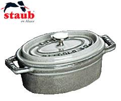 ストウブ/staub ピコ・ココット オーバル41cm グレー (楕円・両手鍋・ストーブ):キッチン応援隊!ラッキークィーン