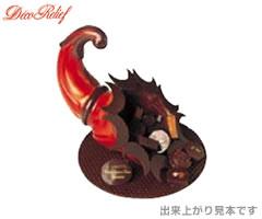 デコレリーフ/DecoRelief チョコレートモールド(チョコレート型)両面合わせ ホーン型 EU-735 [n]