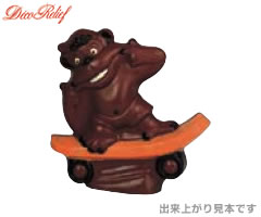 デコレリーフ/DecoRelief チョコレートモールド(チョコレート型)両面合わせ ゴリラ EU-562 [n]