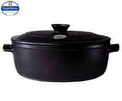 エミールアンリ/EmileHenry ココットオーバル29cm フラムブラック 4547 (両手鍋:楕円:陶器) [bn]